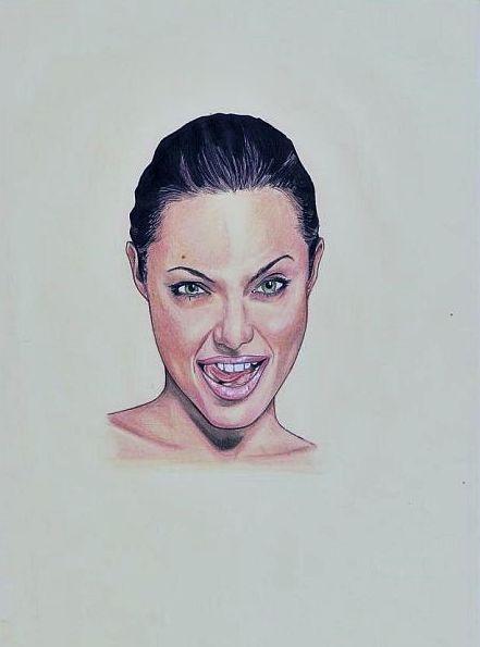 Angelina Jolie   by Lukasz Stopczynski   Pracownia Sztuki SZKIC