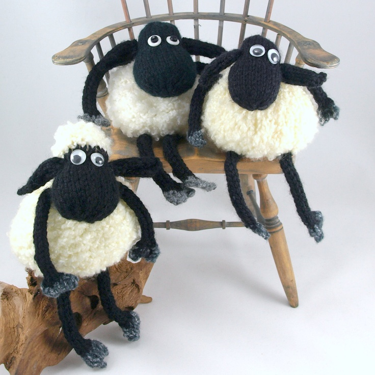 Baba the sheep pdf knitting pattern, instant download Estampas, Malhas e TricO