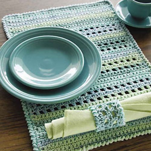 Ravelry: Pacific Place Setting pattern by Diane Simpson. Crochet! Magazine: Fall 2011: Easy Living Crochet.