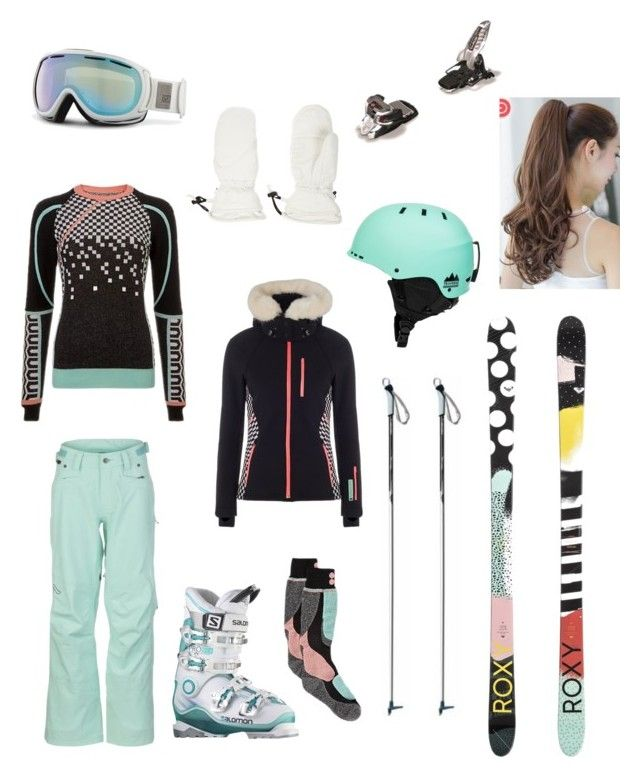 """Ski Trip"" by sydlu on Polyvore featuring Flylow, Sweaty Betty, Salomon, Giro, Roxy, Christian Lacroix and Pin Show"