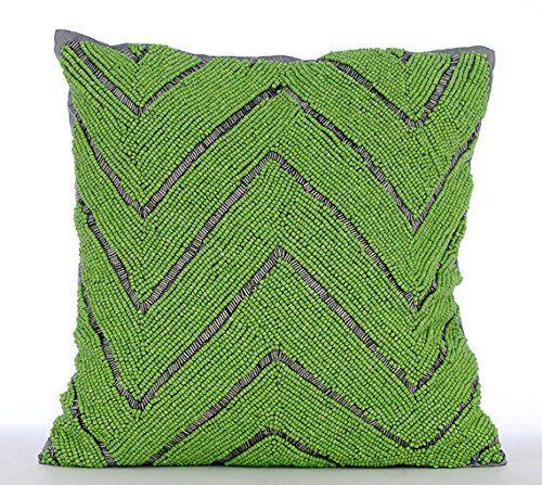 Luxury Green Pillow Cases, Beaded Green Chevron Pillows C... https://www.amazon.com/dp/B016H8WWUE/ref=cm_sw_r_pi_dp_x_A9Hayb400XNCN