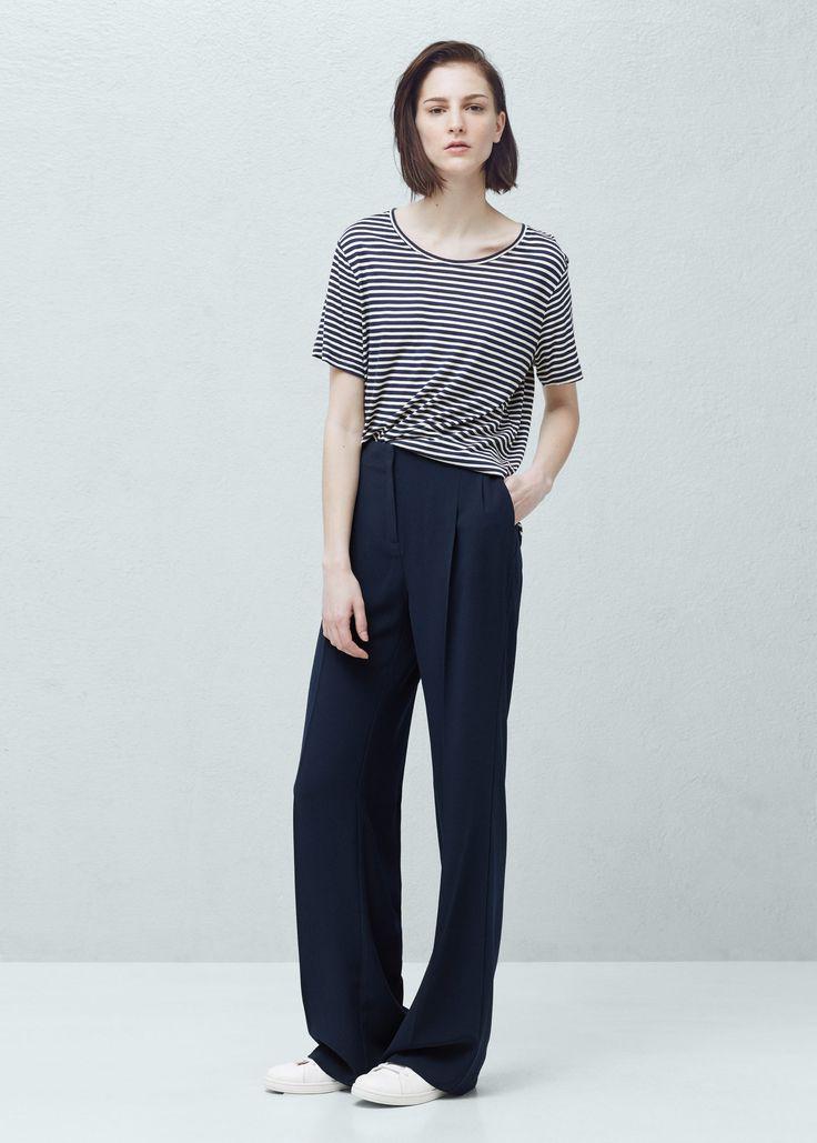 Укороченные брюки палаццо - Платья - Женская   MANGO