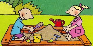 De zandbak - praatplaat