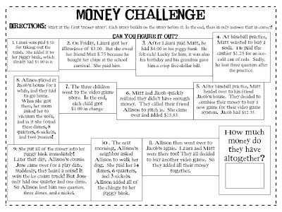 Great challenge for your gifted students...or work in groups to figure it out! Great thinking on this one.