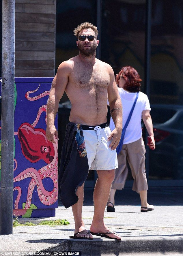 Looking good!Jai Courtney wasn't shy about showing off the goods as he stepped out shirtl...