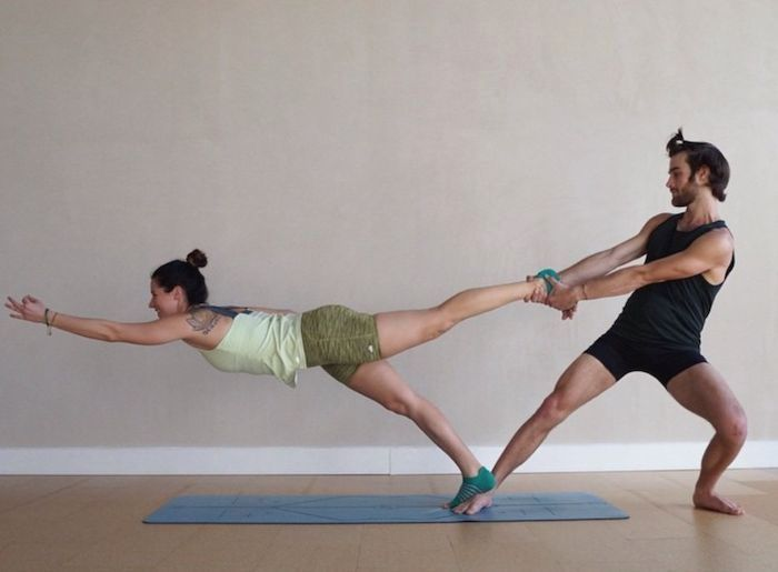 The 5 Best Partner Yoga Photos On Instagram Pilatesposes Couples Yoga Poses Partner Yoga Poses Yoga Poses For Two