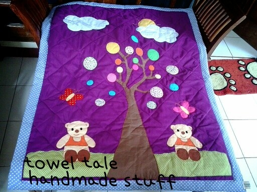 "baby blanket ""blossom day for teddies"""