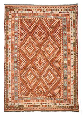 kilim - Kilim Afegão 362x260 cm.