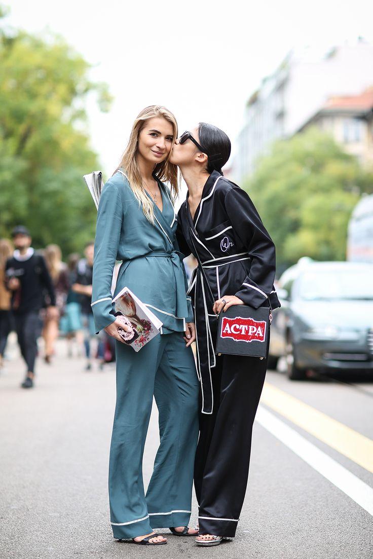 http://www.refinery29.com/2014/09/74945/milan-fashion-week-2014-street-style#slide28  P.J. pals!: