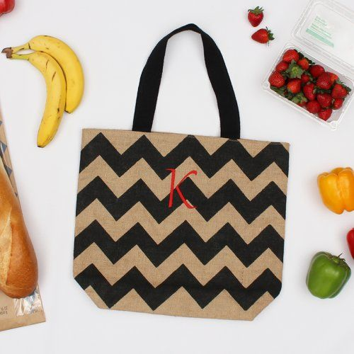 Personalized Pattern Jute Tote Bag by Beau-coup
