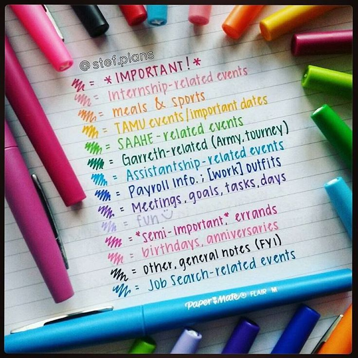 Best 25 Color Coding Planner Ideas On Pinterest College