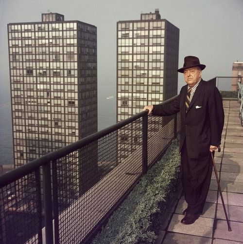 #fc3arch: Mies Van Der Rohe - Old Mies (Chicago, circa 1960. Photo: Slim Aarons/Getty Images)