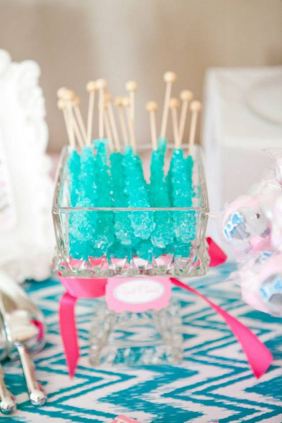 Fun party treat for older kids: rock candy! #socialcircus: Shower Ideas, Elephant Baby Showers, Babies, Baby Elephants, Baby Reveal, Baby Boys, Turquoise Baby Showers, Elephants Baby Shower, Baby Cakes