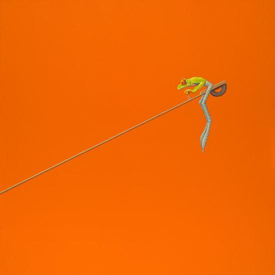 Wip /  Seesaw -   100 x 100 cm -  acrylverf op doek /  acrylic on canvas -  2015 -    € 2.100,-