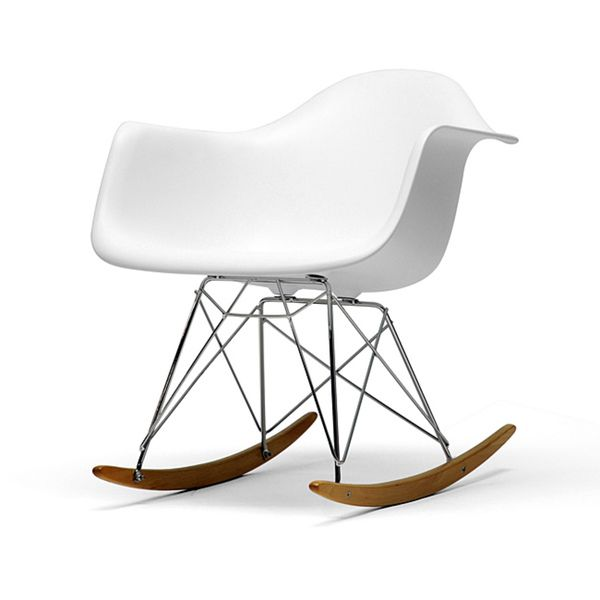 Vinnie Small White Cradle Chair - Overstock™ Shopping - Great Deals on Baxton Studio Living Room Chairs