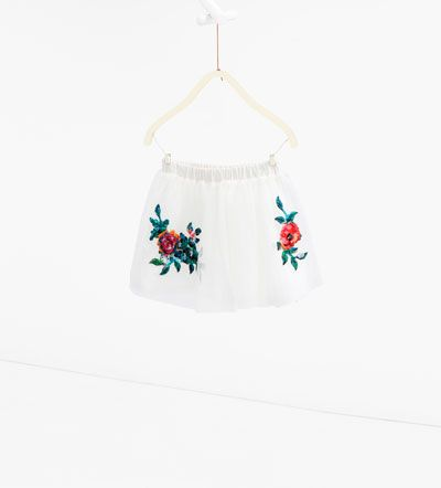 Floral appliqué tulle skirt-SHOP BY LOOK-GIRL | 4-14 years-KIDS | ZARA United States