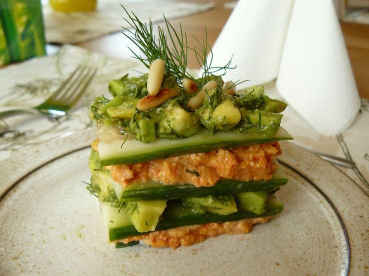 Recetas vegetarianas: lasaña de tofu y calabacín #food #veggie #vegetarian #lasaña #healthy