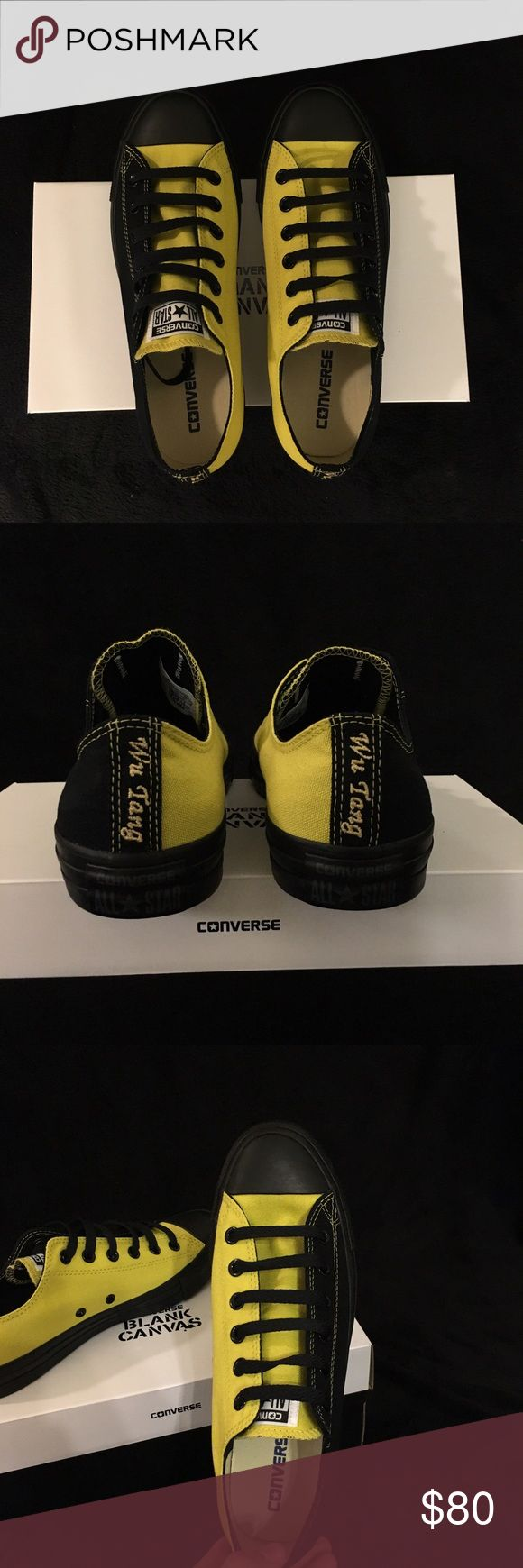 Custom Wu-Tang Converse These low top converse are custom designed, one-of-a-kind Wu Tang Clan Converse. Go against the trend or start your own.  Converse Shoes Sneakers
