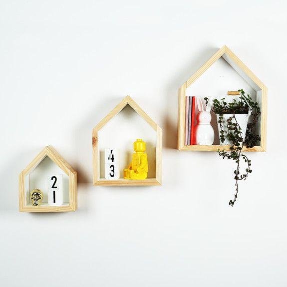B&K Design and Decor - House Block Shelf Set Of 3