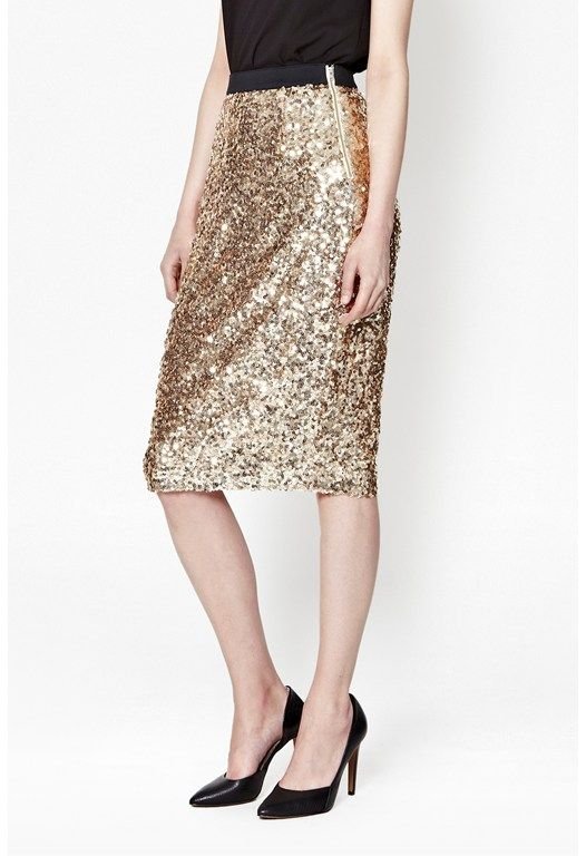 da0fad2b4340 I love this sparkle skirt from French Connection - you can wear it with  wooly jumpers