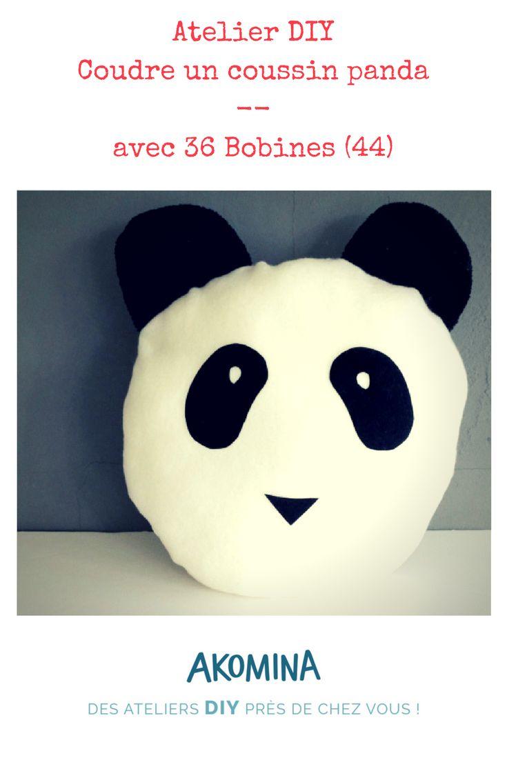 A vos aiguilles ! La mercerie 33 Bobines à Saint-Étienne-de-Montluc vous propose de coudre un coussin en forme de panda. Vous apprendrez  à reporter un patron, épingler, découper du tissu et coudre en suivant des courbes. Atelier DIY accésible pour des enfants à partir de 8 ans. Atelier proposé sur Akomina.