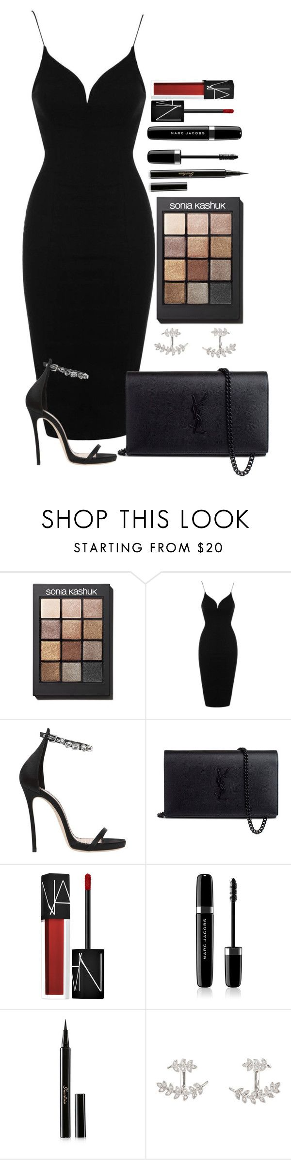 """Untitled #1612"" by fabianarveloc on Polyvore featuring Sonia Kashuk, Topshop, Dsquared2, Yves Saint Laurent, NARS Cosmetics, Marc Jacobs, Guerlain and SonyaRenée"