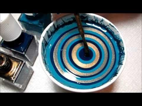 Water Marble For Short Nails, Black & White Swirl Nail Art Design Tutorial HowTo HD Video - YouTube