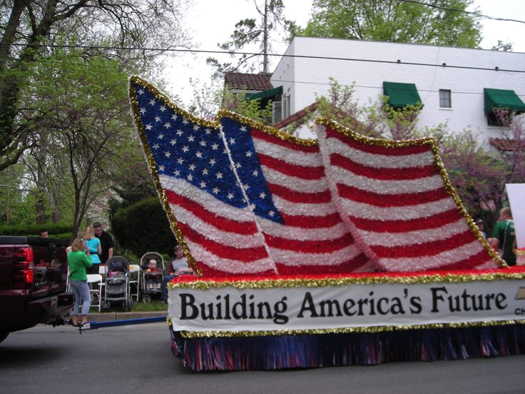 Parade Float Of American Flag