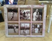 Items similar to Reclaimed, Repurpose, Vintage Window Picture Frame --Shabby Chic-- Great Wedding Christmas Engagement Gift on Etsy