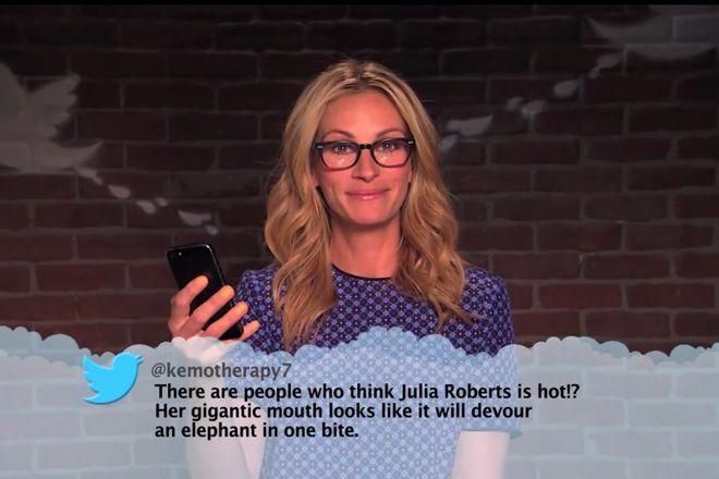 Mais uma vez - celebridades lêem tuites maldosos escritos sobre elas, parte 7 - Blue Bus