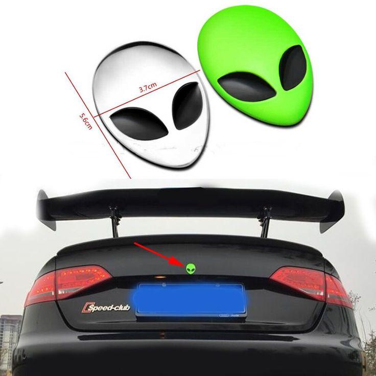 Metal Alien Sticker Label Emblem For Volkswagen Polo Gran Lavida Tiguan Touran Golf Jetta Car Accessories Motorcycle Decoration #Affiliate