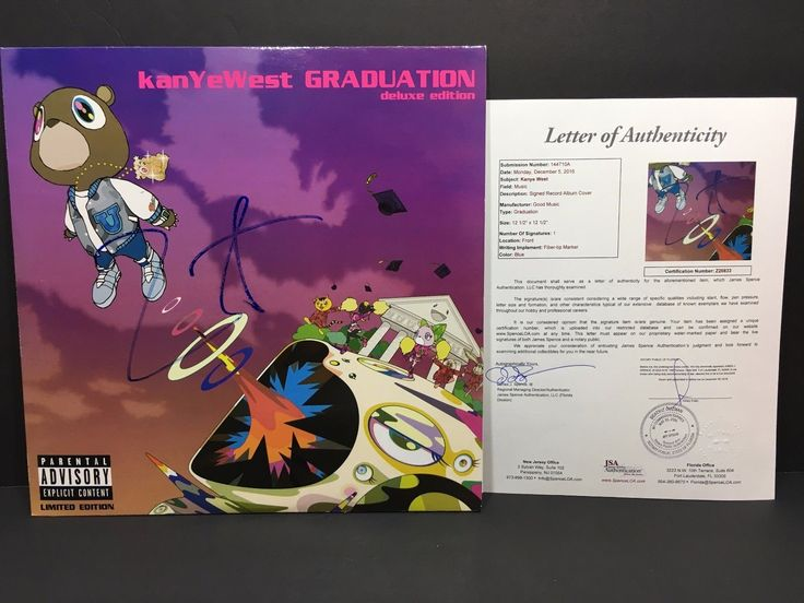 KANYE WEST SIGNED GRADUATION VINYL ALBUM RECORD THE LIFE OF PABLO YEEZY JSA | eBay