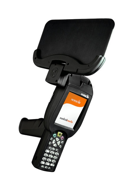 Nordic ID Merlin HF RFID Blade mobile computer is ideal for libraries, archives and laundry service.
