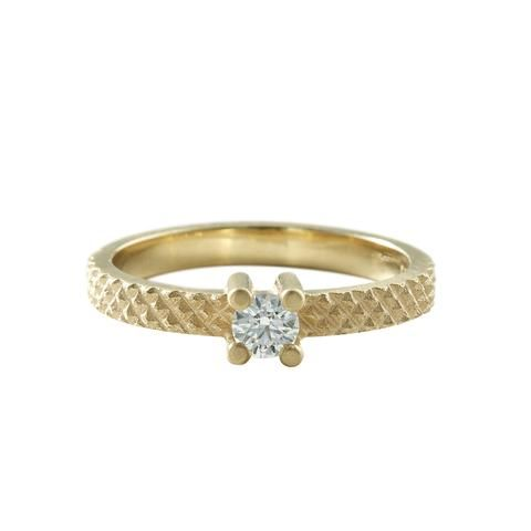 GRIP gold ring  with diamond