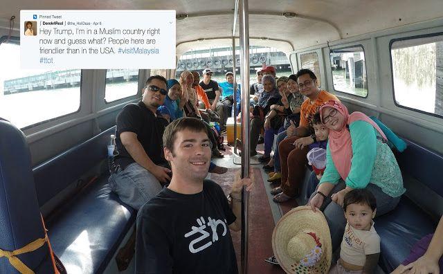 Hey Trump Saya Berada di Negara Muslim & Orang di Sini Lebih Mesra Berbanding Orang di AS: Mat Salleh Ini Datang ke Malaysia Dan Muat Naik Tweet Bidas Trump   Betul ke orang Malaysia ni ramah-ramah orangnya? Mengikut seorang mat salleh yang bercuti di Malaysia baru-baru ini orang Malaysia lebih mesra dan ramah jika dibandingkan dengan orang-orang di Amerika Syarikat.  Hey Trump Saya Berada di Negara Muslim & Orang di Sini Lebih Mesra Berbanding Orang di AS: Mat Salleh Ini Datang ke Malaysia…