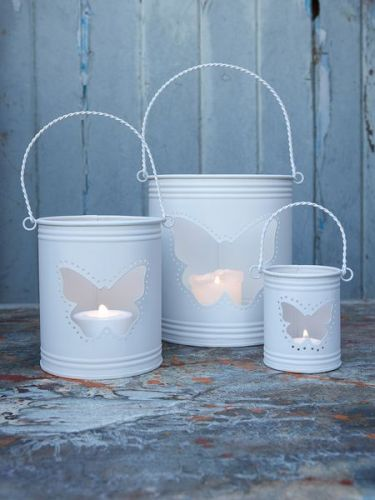17 best images about gallon tin can projects on pinterest for What kind of paint to use on kitchen cabinets for candle holders hurricane