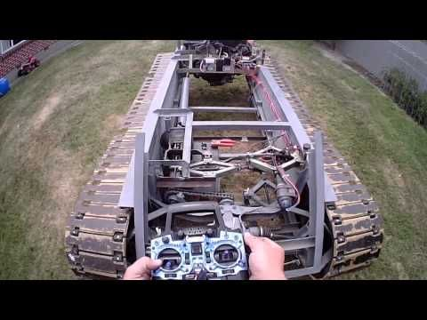 Half Scale Drivable RC Tank And Remote Movements - YouTube