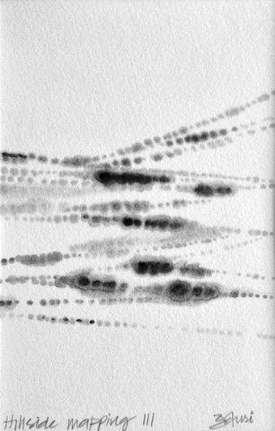 Hillside Mapping 3 - SOLD by Gauri Torgalkar | PLATFORMstore | Ink on printmaking paper