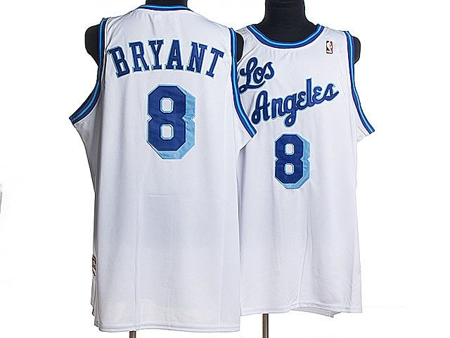 Los Angeles Lakers Kobe Bryant #8 Throwback Home Blue Jersey