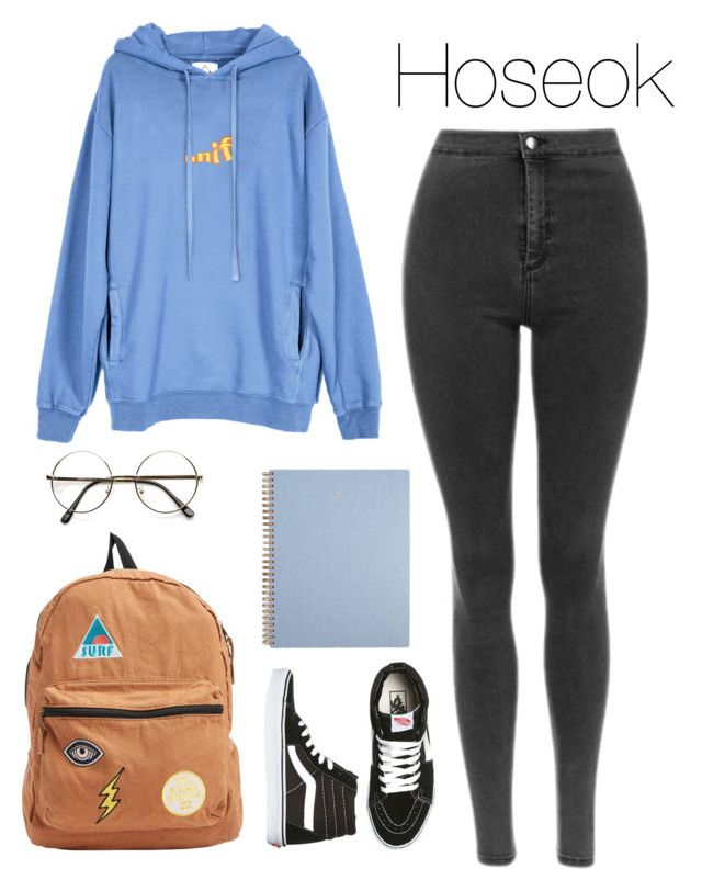 Bts | class with Hoseok by kxtlkh ❤ liked on Polyvore featuring UNIF, Vans and Billabong