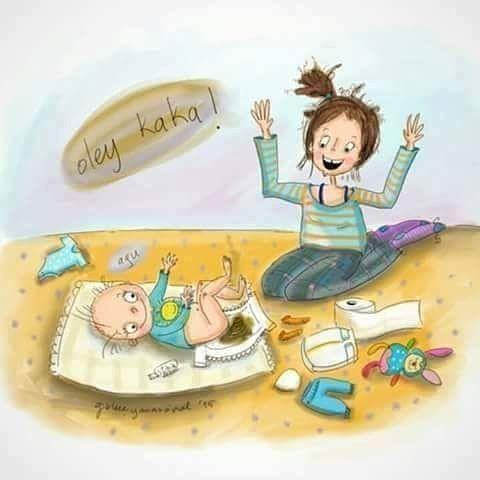 """""""Kaka"""" onun sayesinde sevinebileceğiniz bir  durum olmuştur #bebek #baby #bebekler #anne #mom #bebeklehayat #bebisim #bebegim #anneler #tazeanne #yenianne #anneoldum #anneilgisi #kaka #bebekkakasi #igmoms #iganneleri #igbabies #annelik #bezdegistirme #bebekbezi #karikatür #photooftheday #blogger #internetanneleri #internethemsireleri #internetnurse"""