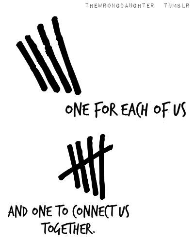 Awwwww. The meaning behind the tally mark!!! Love yall!