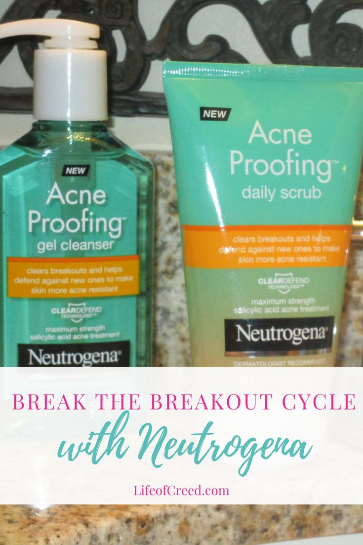 Break The Breakout Cycle With Neutrogena Face Care Acne Face