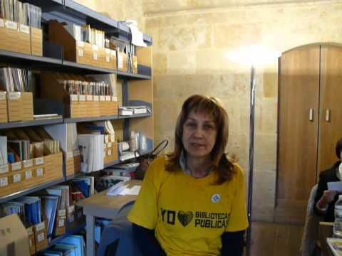 Isabel apoya a las Bibliotecas  públicas