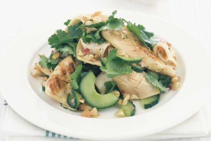 BBQ calamari salad.
