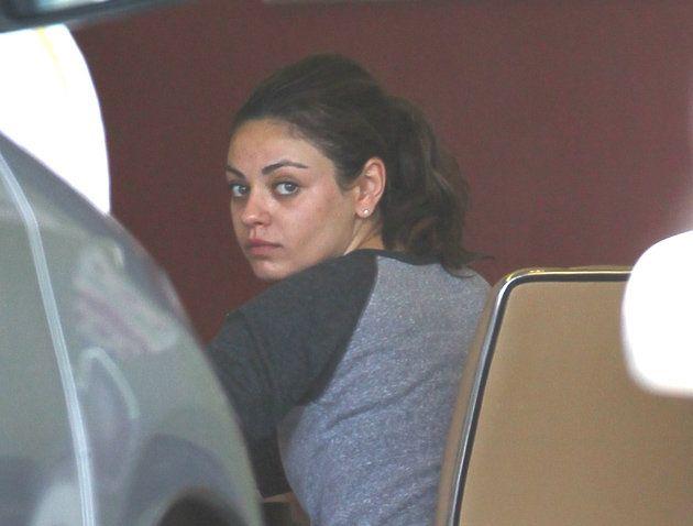 Mila Kunis without makeup, looks like ordinary girl