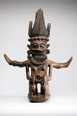 Nias people central Nias, Indonesia Ancestor figure [adu zatua or adu lawule sange'e] 19th century wood, beads 71.5 (h) x 58.0 (w) x 22.0 (d) cm KIT Tropenmuseum, Amsterdam