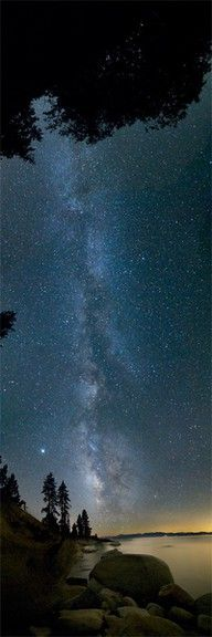It has to be a really dark night to see the Milky Way