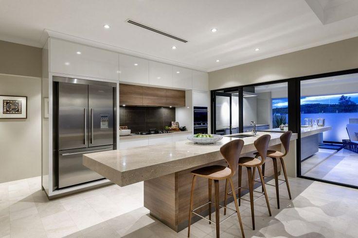 Bayfield Residence - me gusta que la barra de la cocina continue hasta la terraza.