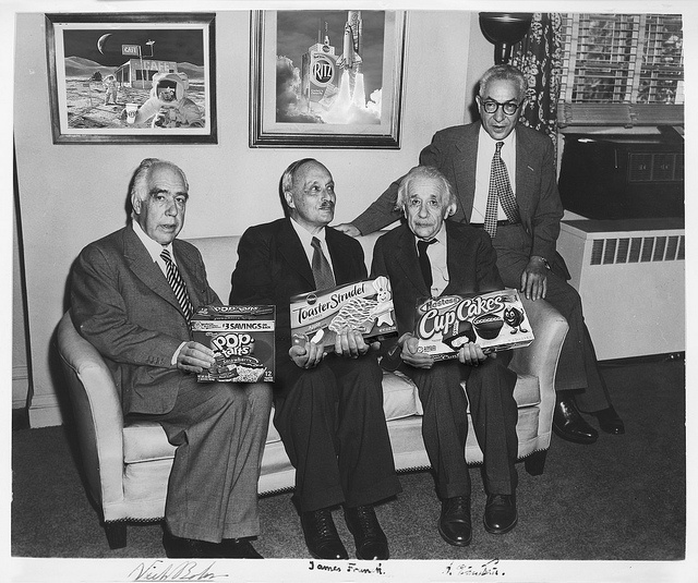 Great Moments in Science (Vol.2) by jrtce1, via Flickr  Neils Bohr, James Franck and Albert Einstein.  Dec 9, 1951